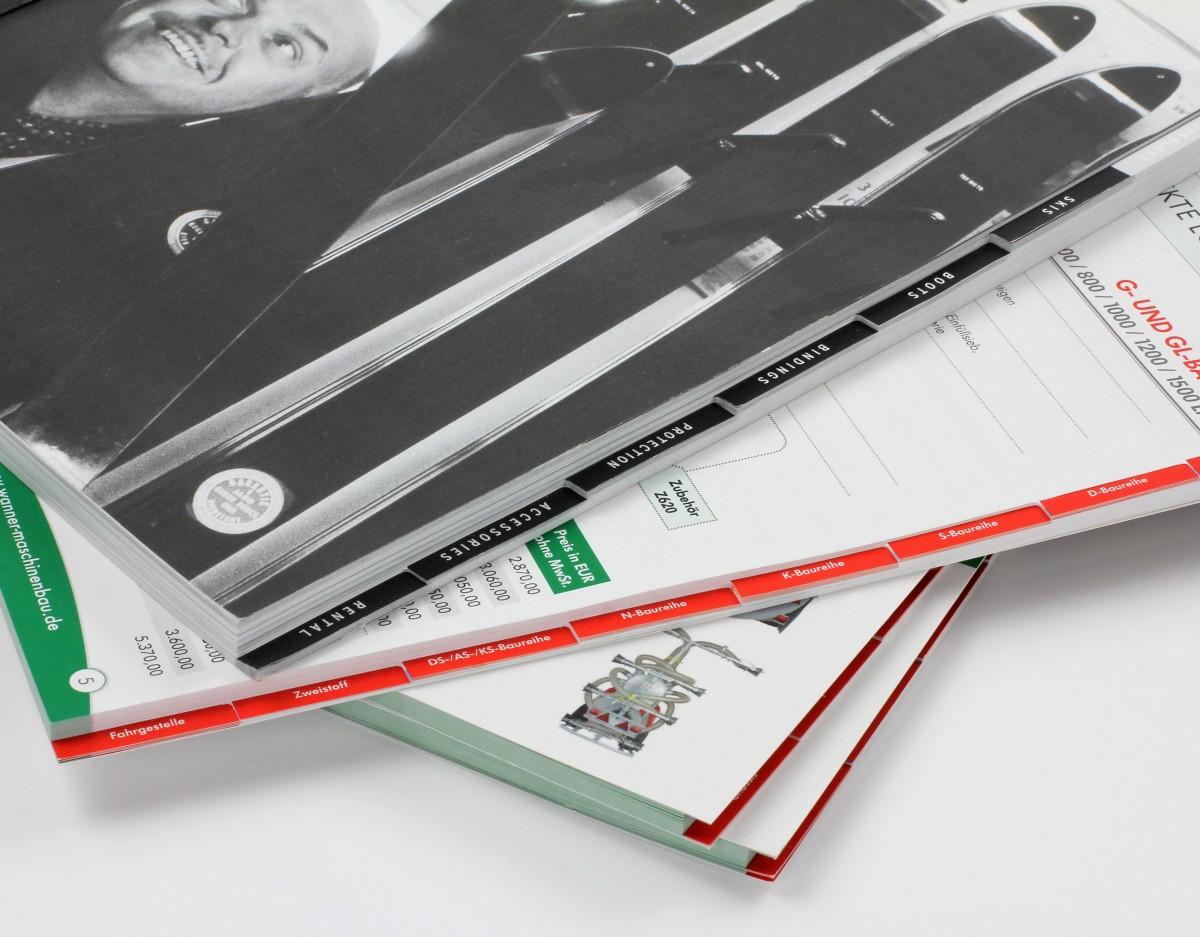 Softcover mit Registerstanzung