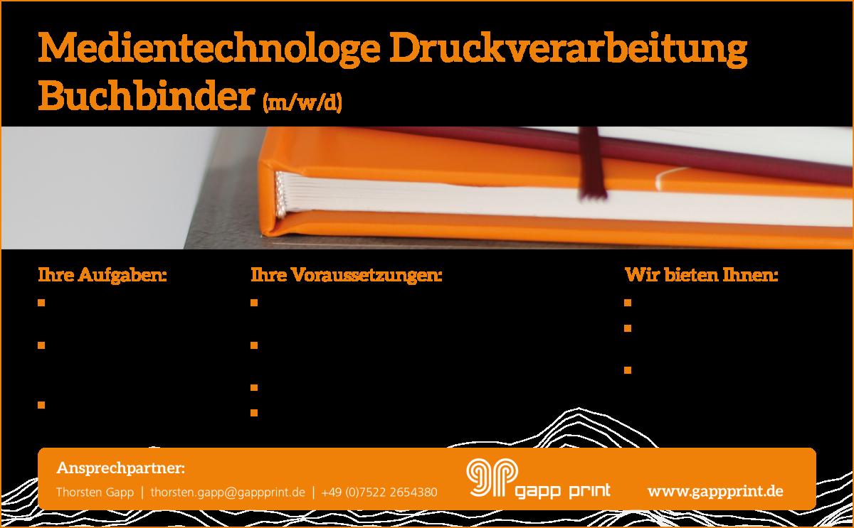 Anzeige Buchbinder
