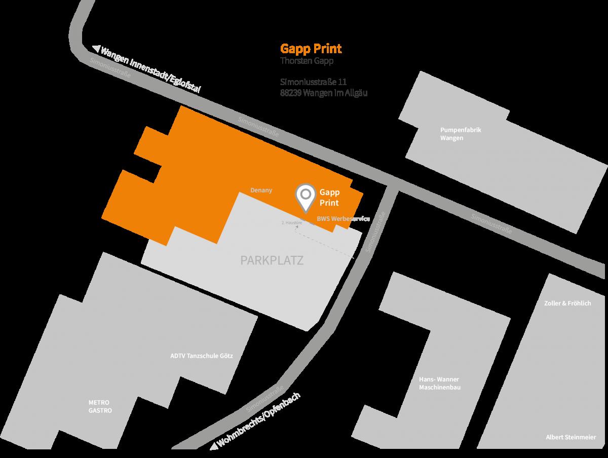 Karte Standort Gapp Print